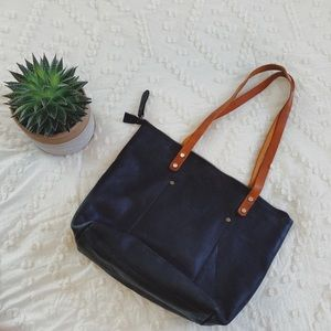 Pegai rustic leather tote